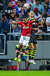 Solna 2013-08-06 Football Friendly Game , AIK - Manchester United FC :  <br /> AIK 6 Alexander Milosevic i nickduell med Manchester United 17 Nani <br /> (Foto: Kenta J&ouml;nsson) Nyckelord: