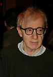 Woody Allen.Attending the Opening Night Performance of.TWENTIETH CENTURY at the American Airlines Theatre in New York City..March 25, 2004.© Walter McBride /