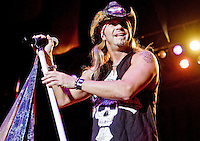 Bret Michaels performs during Rib America Festival at Soldier's Memorial on May, 29, 2010 in St. Louis, Mo.