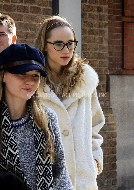 WWW.ACEPIXS.COM<br /> <br /> December 12 2014, New York City<br /> <br /> Model Suki Waterhouse leaves a downtown hotel on December 12 2014 in New York City<br /> <br /> By Line: Curtis Means/ACE Pictures<br /> <br /> <br /> ACE Pictures, Inc.<br /> tel: 646 769 0430<br /> Email: info@acepixs.com<br /> www.acepixs.com