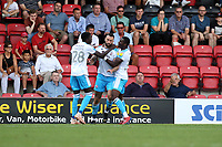 Crawley's and ex orient Ollie Palmer 'celebrates' after scoring his 1st during Leyton Orient vs Crawley Town, Sky Bet EFL League 2 Football at The Breyer Group Stadium on 24th August 2019