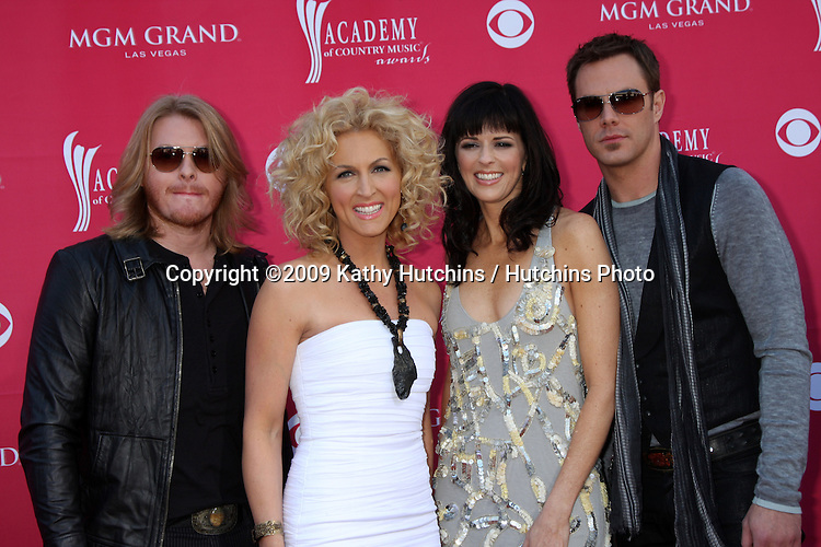 Little Big Town arriving at the 44th Academy of Country Music Awards at the MGM Grand Arena in  Las Vegas, NV on April 5, 2009.©2009 Kathy Hutchins / Hutchins Photo....                .