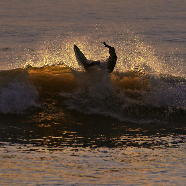 Backlit surf action at Compton Bay