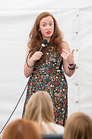 13th July 2019: Comedian Catherine Bohart performs her show 'Lemon' on day 1 of the 2019 Comedy Crate Festival in Northampton