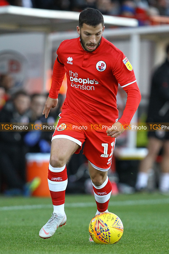Luke Gambin of Crawley Town during Crawley Town vs MK Dons, Sky Bet EFL League 2 Football at Broadfield Stadium on 3rd November 2018