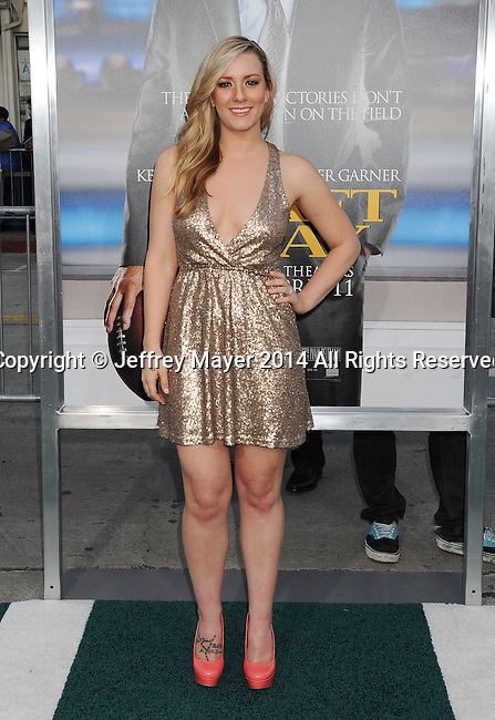 WESTWOOD, CA- APRIL 07: Actress Kristen Quintrall attends the Los Angeles premiere of 'Draft Day' at the Regency Village Theatre on April 7, 2014 in Westwood, California.