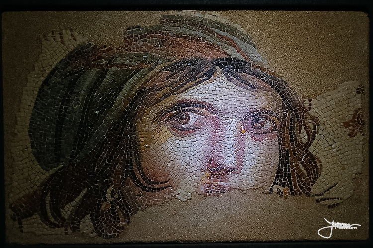 Mosaic from the world's largest collection of Roman mosaics in Gaziantep. The mosaics were discovered when excavating a Roman city to be drowned under Euphrates, building a hydroelectric power plant