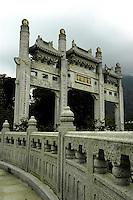 Temple around the big Buddha, Hong Kong.