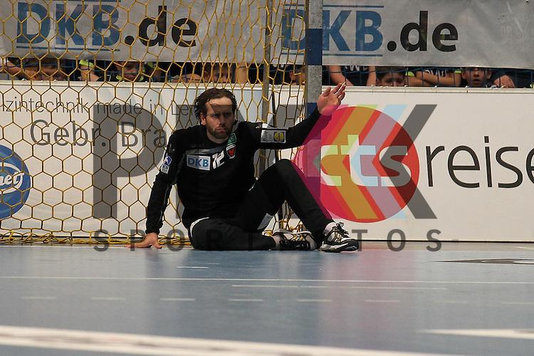 Fuechse Berlins Silvio Heinevetter (Nr.12)   im Spiel TBV Lemgo - Fuechse Berlin.<br /> <br /> Foto &copy; PIX-Sportfotos *** Foto ist honorarpflichtig! *** Auf Anfrage in hoeherer Qualitaet/Aufloesung. Belegexemplar erbeten. Veroeffentlichung ausschliesslich fuer journalistisch-publizistische Zwecke. For editorial use only.