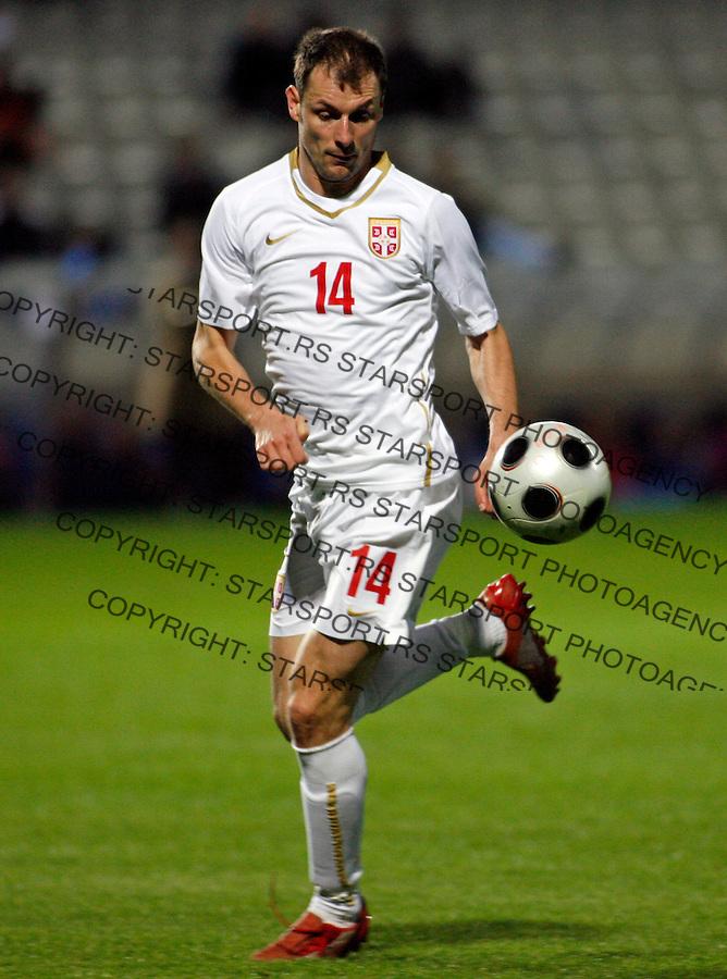 Milan Jovanovic Sport Fudbal Reprezentacija Soccer Football Serbia National Team Friendly Prijateljska Kipar Cyprus Nikozija  Nicosia 10.2.2009. (credit image © photo: Pedja Milosavljevic / STARSPORT)