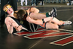 02/26/11--West Linn's Ryan Harman avoids being pinned by Roseburg's Dylan Fors in the 171 pound weight division of the 6A wrestling state championship at the Memorial Coliseum..Photo by Jaime Valdez..........................................