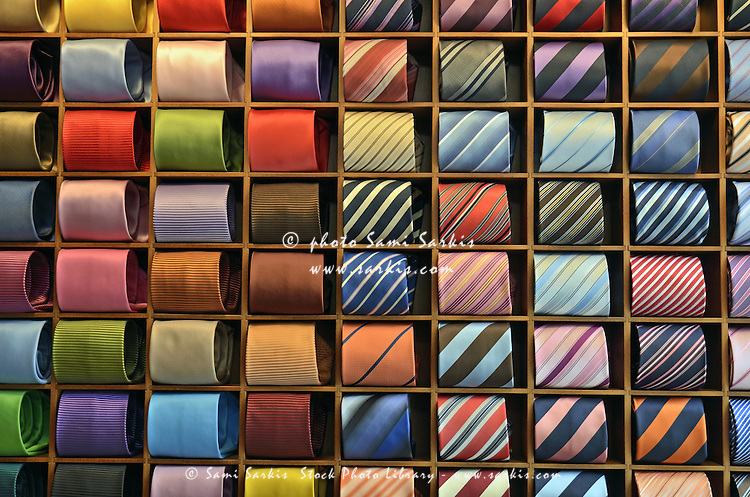 Neckties displayed in store, Venice, Italy