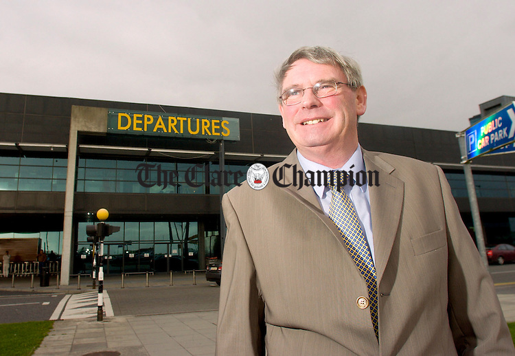 Pat O'Brien at Shannon Airport.Pic Arthur Ellis.