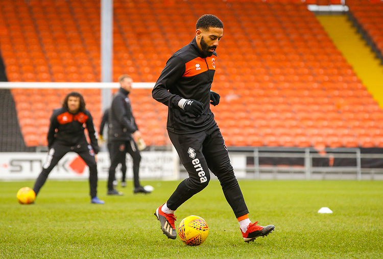 Blackpool's Liam Feeney goes through his drills in the warm up<br /> <br /> Photographer Alex Dodd/CameraSport<br /> <br /> The EFL Sky Bet League One - Blackpool v Shrewsbury Town - Saturday 19 January 2019 - Bloomfield Road - Blackpool<br /> <br /> World Copyright &copy; 2019 CameraSport. All rights reserved. 43 Linden Ave. Countesthorpe. Leicester. England. LE8 5PG - Tel: +44 (0) 116 277 4147 - admin@camerasport.com - www.camerasport.com