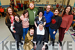 Students from St John of Gods launch their upcoming play at the Centre on Tuesday.<br /> Kneeling l to r: James Begley and Emer O&rsquo;Shea.<br /> Back l to r: Siobhan Looney, Antoinette O&rsquo;Sullivan, Jason McCarthy, Mary Neligan, Jack Shanahan, Laura Lee Curtin, Aine Murray and Jackie O&rsquo;Mahoney.