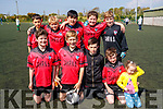 Students from Cahir National School, Kenmare, who took park in the Mounthawk Park, Tralee 5 aside County Finals soccer blitz on Wednesday, May 3rd last, were front l-r: Tommy Maher, Der O'Connor, Zack O'Shea, Tommy Arthur and Sophie Arthur. Back l-r: Ollie Shea. Vincent Wagner, Jean Kissane, Cengiz Han, Murt O'Shea and Barry Fitzsimons.
