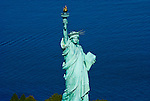 Aerial view Statue of Liberty National Monument and Ellis Island Immigration Museum,   New York Harbor,