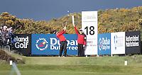 27 May 2015; Sergio Garcia tees up at the 18th<br /> <br /> Dubai Duty Free Irish Open Golf Championship 2015, Pro-Am. Royal County Down Golf Club, Co. Down. Picture credit: John Dickson / DICKSONDIGITAL