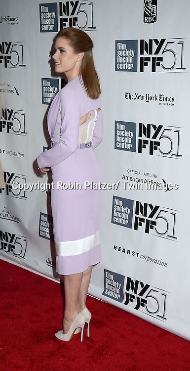 """Amy Adams attends the Closing Night of The New York Film Festival screening of """"her"""" on October 12, 2013 at Alice Tully Hall in New York City."""