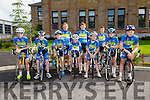 Front l-r Ciarán Commane, Connor Mannion, Adam Doyle, Adam Lennihan, Troy Kennedy, Dillon O'Sullivan and Jake Dearing.Back l-r Hugh Everson, Kieran Coggins and Oisín O'Sullivan from  Kingdom  CC at the Kerry Youth Cycling Initiative on Sunday Organised by the Kingdom  CC
