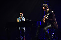 MIAMI, FL - FEBRUARY 29: Mario Domm and Pablo Hurtado of Latin Pop Rock Group Camila performs on stage at James L. Knight Center on February 29, 2020 in Miami, Florida.  ( Photo by Johnny Louis / jlnphotography.com )
