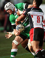 Manawatu number eight Hamish Gosling during the Air NZ Cup rugby match between Manawatu Turbos and Counties-Manukau Steelers at FMG Stadium, Palmerston North, New Zealand on Sunday, 2 August 2009. Photo: Dave Lintott / lintottphoto.co.nz
