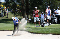 Felipe Aguilar (CHI) in the bunker on the 3rd during Round Three of the 2015 Alstom Open de France, played at Le Golf National, Saint-Quentin-En-Yvelines, Paris, France. /04/07/2015/. Picture: Golffile | David Lloyd<br /> <br /> All photos usage must carry mandatory copyright credit (© Golffile | David Lloyd)