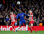 Chelsea's Tiemoue Bakayoko tussles with Atletico Madrid's Saul Niguez during the Champions League Group C match at the Stamford Bridge, London. Picture date: December 5th 2017. Picture credit should read: David Klein/Sportimage