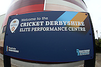 Cricket Derbyshire sign ahead of Derbyshire CCC vs Essex CCC, Specsavers County Championship Division 2 Cricket at the 3aaa County Cricket Ground on 14th August 2016