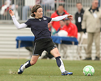 Sonia Bompastor of the Washington Freedom stops the ball during a WPS pre season match against Sky Blue F.C. at Maryland Soccerplex,in Boyd's, Maryland on March 14 2009. Sky Blue won the match 1-0