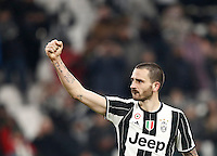 Calcio, Serie A: Torino, Juventus Stadium, 5 febbraio 2017.<br /> Juventus' Leonardo Bonucci celebrates at the end of the Italian Serie A football match between Juventus and Inter Milan at Turin's Juventus Stadium, on February 5, 2017.<br /> UPDATE IMAGES PRESS/Isabella Bonotto
