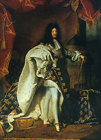 Rigaud 1659-1743:  Louis XIV, 1761.   Louvre.  Reference only.