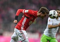 Fussball  1. Bundesliga  Saison 2016/2017  14. Spieltag  FC Bayern Muenchen - VfL Wolfsburg    10.12.2016 Thomas Mueller (FC Bayern Muenchen) am Ball