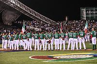 Mexico Team. Equipo de Mexico.<br /> Edgar Gonzalez, Jesus Quiroz (17), Alex <br /> Verdugo (27),  Brandon Laird (5), <br /> Adrian Gonzalez (23), Japhet Amador (42), Efren Navarro (24), Luis Cruz (47), Sebastian Elizalde (20),  Carlos Torres  (70), Fernando Salas (59), Miguel Gonzalez (58), Jake Sanchez (55), Sergio Romo (54), Joakim Soria (48), Oliver Perez (46) <br /> https://www.worldbaseballclassic.com/teams/mex<br /> Aspectos del partido Mexico vs Italia, durante Cl&aacute;sico Mundial de Beisbol en el Estadio de Charros de Jalisco.<br /> Guadalajara Jalisco a 9 Marzo 2017 <br /> Luis Gutierrez/NortePhoto.com