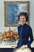 Official Portrait of first lady Rosalynn Carter taken in Washington, DC on February 18, 1977.<br /> Credit: White House via CNP