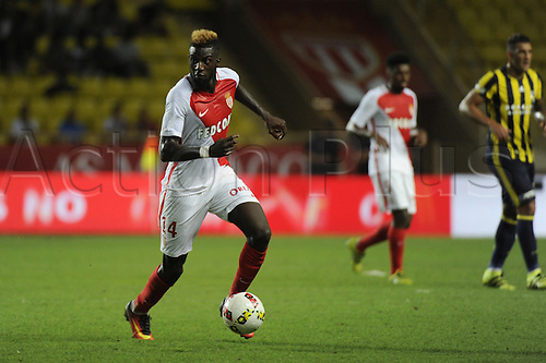 03.08.2016. Monaco, France. UEFA Champions league qualifying round, AS Monaco versus Fenerbahce.  Tiemoue Bakayoko (mon) breaks forward with the ball