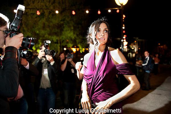 Utrecht,28 sept 2011 .Nederlands FILM FESTIVAL.Rode Loper Famke Janssen ,Bringing Up Bobby...Foto Lucia Guglielmetti.