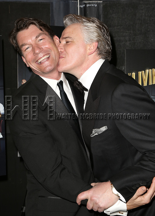 Jerry O'Connell and Douglas Sills attends the Broadway Opening Night Performance After Party for 'Living on Love' at Sardi's on April 20, 2015 in New York City.