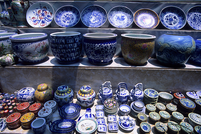 CHINA, NEAR SHANGHAI, SUZHOU, STREET SCENE, PORCELAIN FOR SALE