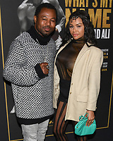 "08 May 2019 - Los Angeles, California - Sugar Shane Mosley, Bella Gonzalez. ""What's My Name: Muhammad Ali"" HBO Premiere held at Regal Cinemas LA LIVE 14. Photo Credit: Billy Bennight/AdMedia"
