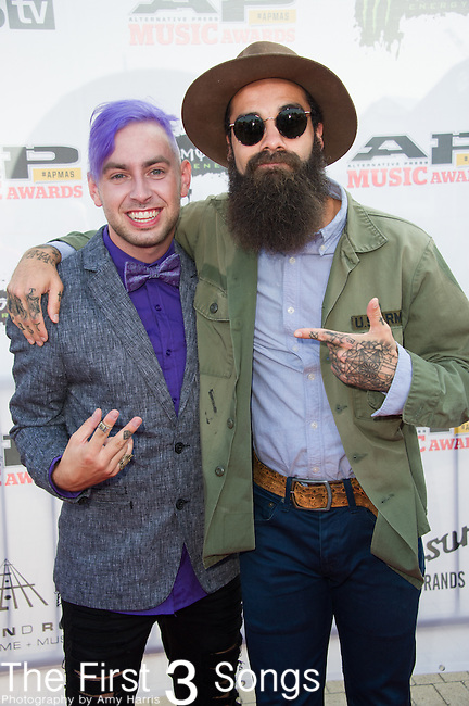 Tyler Carter and Jason Butler attend the 2014 AP Music Awards at the Rock And Roll Hall Of Fame and Museum at North Coast Harbor in Cleveland, Ohio.