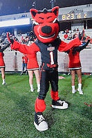Arkansas State's mascot Howl during NCAA Football game, Thursday, November 20, 2014 in San Marcos, Tex. Texas State defeated Arkansas State 45-27. (Mo Khursheed/TFV Media via AP Images)
