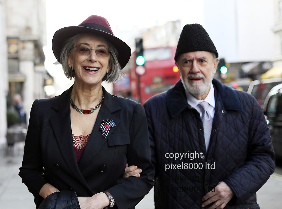 Oldie of the Year awards at Simpsons in the Strand.<br /> 2017<br /> <br /> Pic shows: Maureen Lipman with her partner Guido Castro, who she has described as her 'soulmate'<br /> <br /> <br /> Pic by Gavin Rodgers/Pixel 8000 Ltd