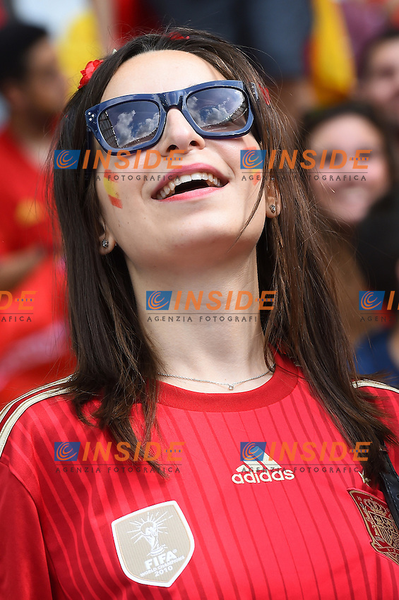 Tifosa Spagna Fans Spain <br /> Paris 27-06-2016 Stade Saint Denis <br /> Football Euro2016 Italy - Spain / Italia - Spagna Round of 16 / Ottavi di finale<br /> Foto Massimo Insabato / Insidefoto