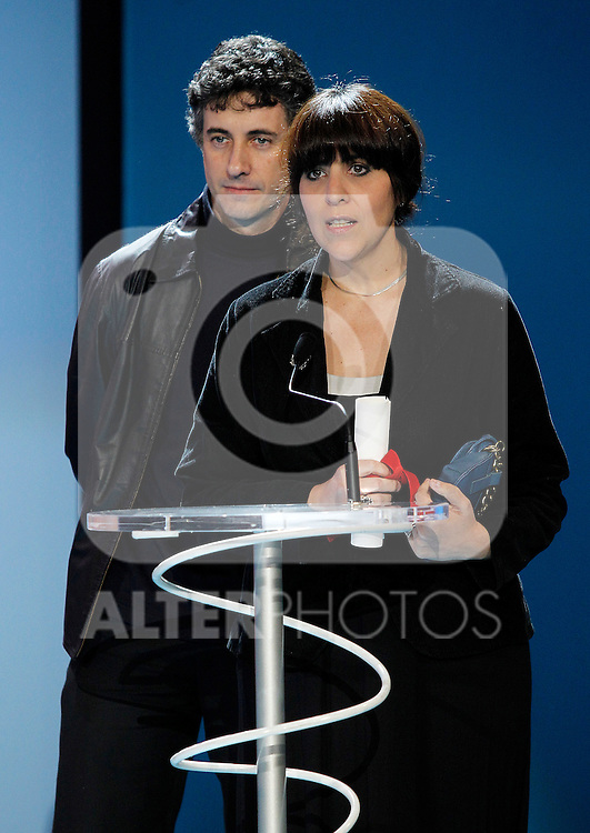 "film directors Juan Carlos Maneglia (l) and tana Schembori (r) Fiilms in Progress 20 Awards fot ""7 cajas"" during the 59th San Sebastian Donostia International Film Festival - Zinemaldia.September 24,2011.(ALTERPHOTOS/ALFAQUI/Acero)"