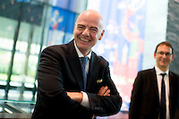 Zurigo 14-10-2016  Football FIFA - Council meeting; FIFA President Gianni Infantino (SUI) at a press briefing at the FIFA headquarters  in Zurich<br />  Foto Steffen Schmidt/freshfocus/Insidefoto ITALY ONLY