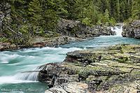 Flowing stream, Glacier National Park, Montana