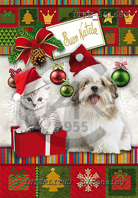 Isabella, CHRISTMAS ANIMALS, paintings,+dogs,++++,ITKE551683,#XA# Weihnachten, Navidad, illustrations, pinturas