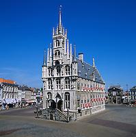 Netherlands, South Holland, Gouda: Gemeente Gouda - Stadhuis (Town Hall) in the Markt | Niederlande, Sueddholland, Gouda: Stadhuis (Rathaus) auf dem Marktplatz