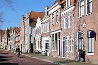 Hoorn. Straatbeeld in het historische centrum, bij de haven